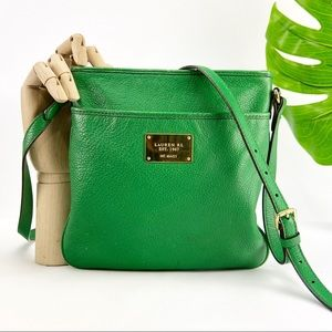Ralph Lauren Crossbody Bag Purse Kelly Green